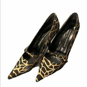 Chinese Laundry Pointed Toe Heel Leopard Print 6.5